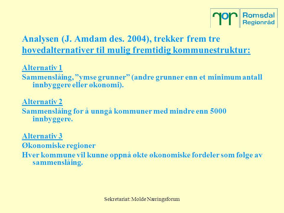 Sekretariat: Molde Næringsforum Analysen (J. Amdam des.