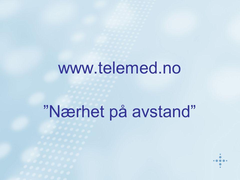 www.telemed.no Nærhet på avstand