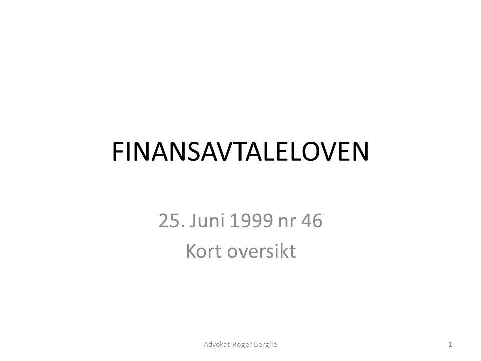 Finansavtaleloven Historie Oversikt – Kap 1 – Alminnelige regler – Kap 2 – Innskudd og betalingsoppdrag – Kap 3 – Låneavtaler m.v.