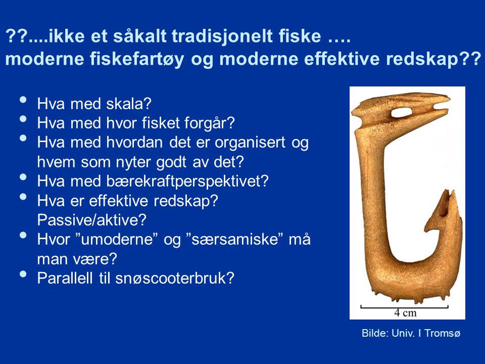 ??....ikke et såkalt tradisjonelt fiske ….moderne fiskefartøy og moderne effektive redskap?.