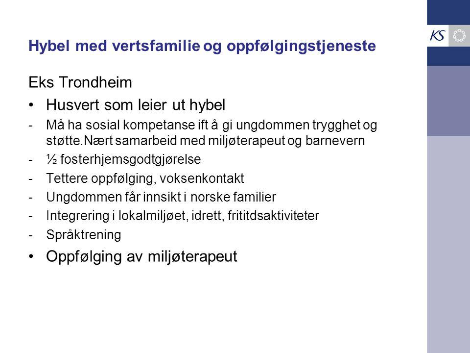 Hybel med vertsfamilie og oppfølgingstjeneste Eks Trondheim Husvert som leier ut hybel -Må ha sosial kompetanse ift å gi ungdommen trygghet og støtte.