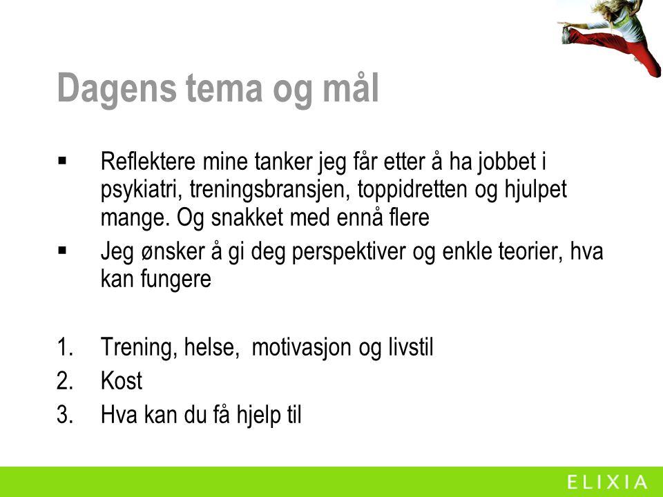 Noen utsagn Dagsavisen, Aftenposten, brev fra kunder og sms Jeg gikk fra 116 til ca 88 kg for så å gå opp igjen til 100 kg.