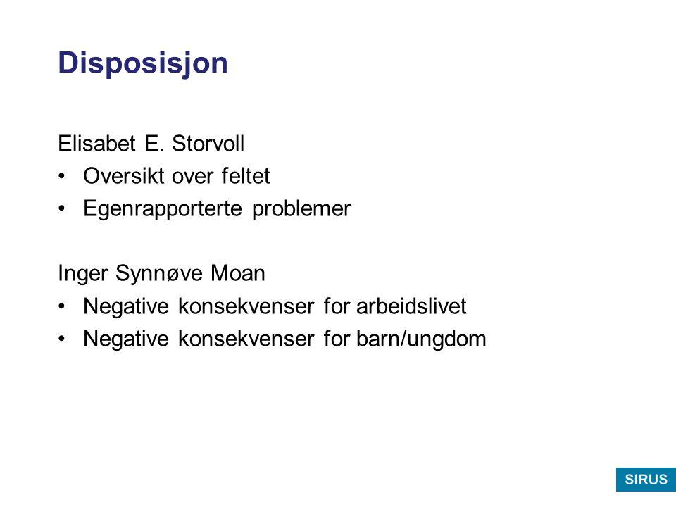 Negative opplevelser – hvem.Rossow, I. & Hauge, R.