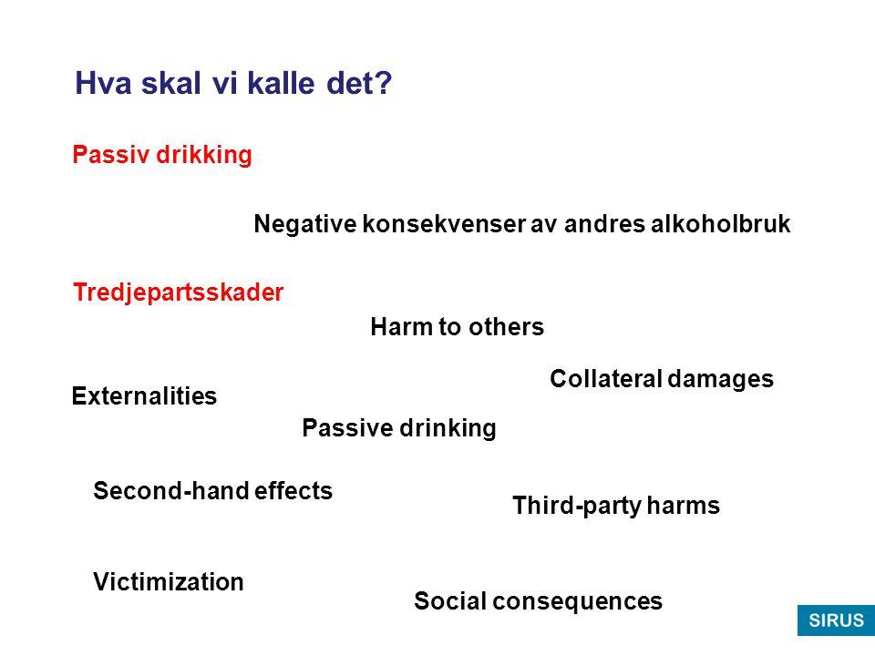 Nordisk sammenligning Mäkelä, P., Fonanger, K., Hibell, B., Nordlund, S., Sabroe, S.