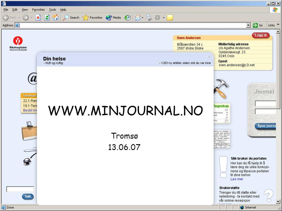 WWW.MINJOURNAL.NO Tromsø 13.06.07