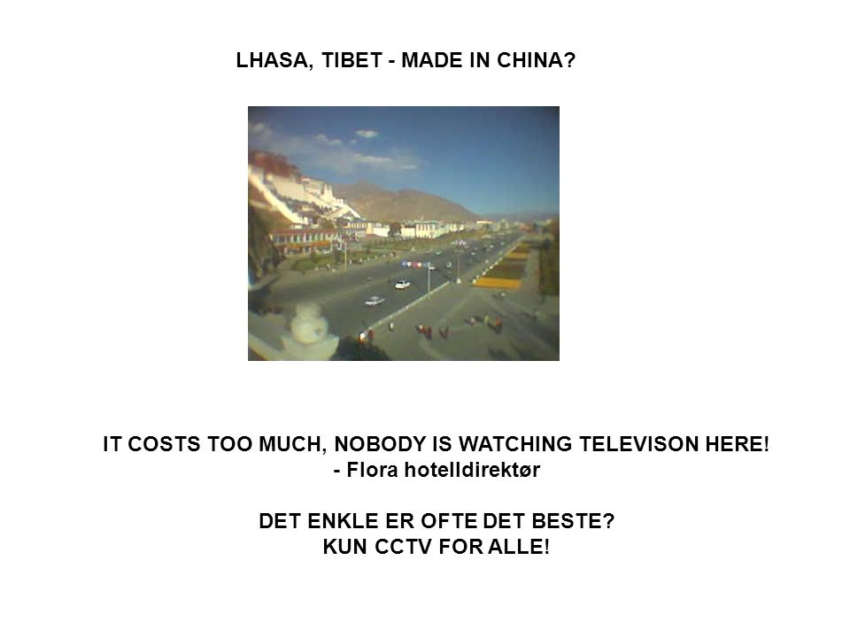LHASA, TIBET - MADE IN CHINA. IT COSTS TOO MUCH, NOBODY IS WATCHING TELEVISON HERE.