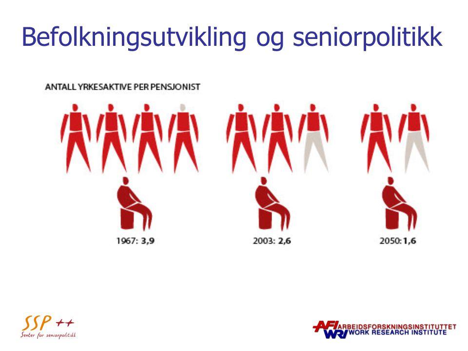 Befolkningsutvikling og seniorpolitikk