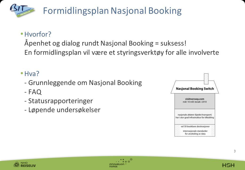 3 Hvorfor. Åpenhet og dialog rundt Nasjonal Booking = suksess.
