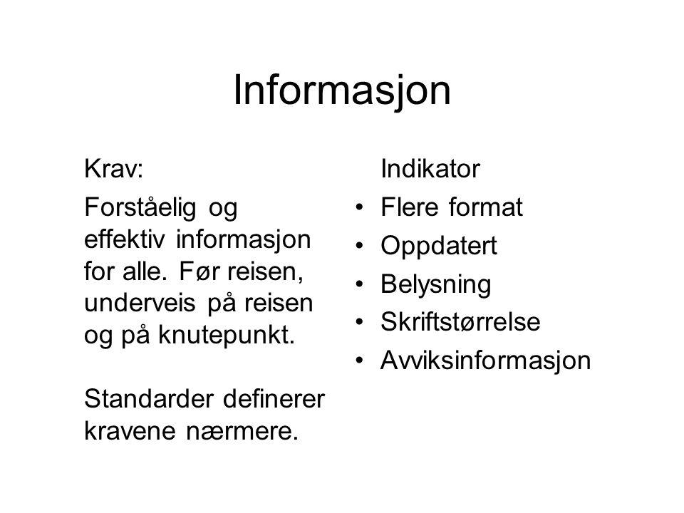 Informasjon Krav: Forståelig og effektiv informasjon for alle.