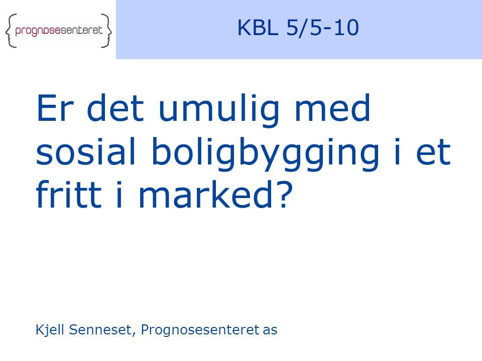 KBL 5/5-10 Er det umulig med sosial boligbygging i et fritt i marked.