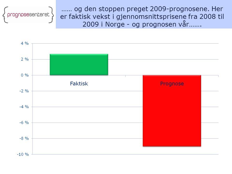 …… og den stoppen preget 2009-prognosene.