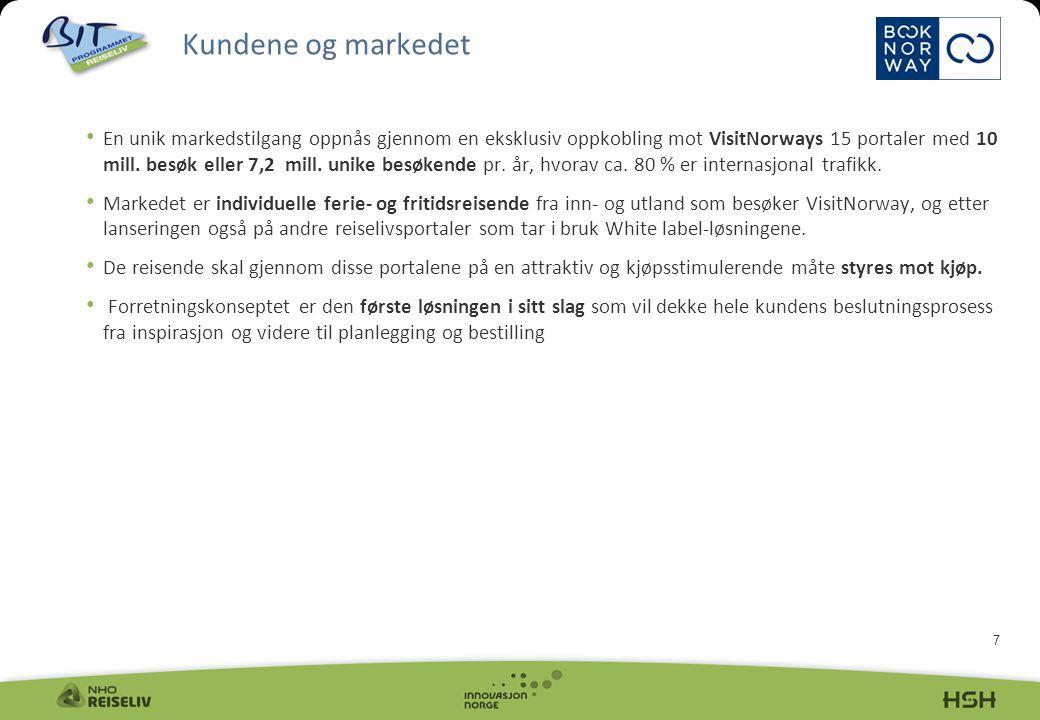 7 En unik markedstilgang oppnås gjennom en eksklusiv oppkobling mot VisitNorways 15 portaler med 10 mill.