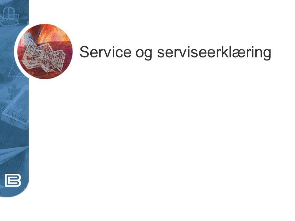 Service og serviseerklæring
