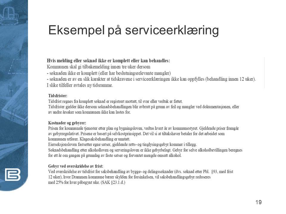 19 Eksempel på serviceerklæring