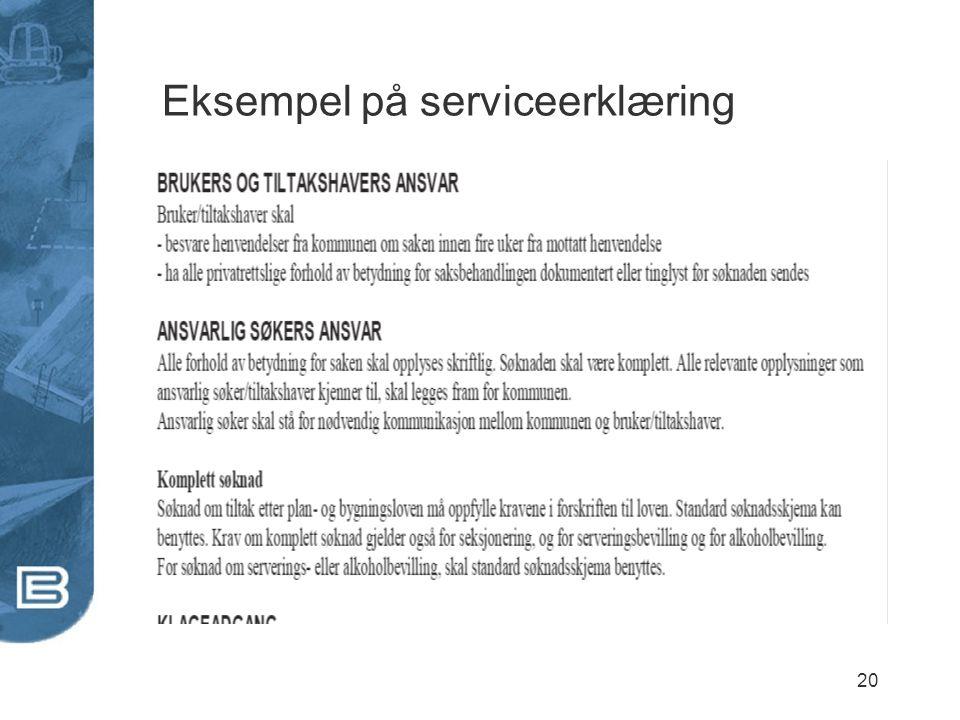 20 Eksempel på serviceerklæring
