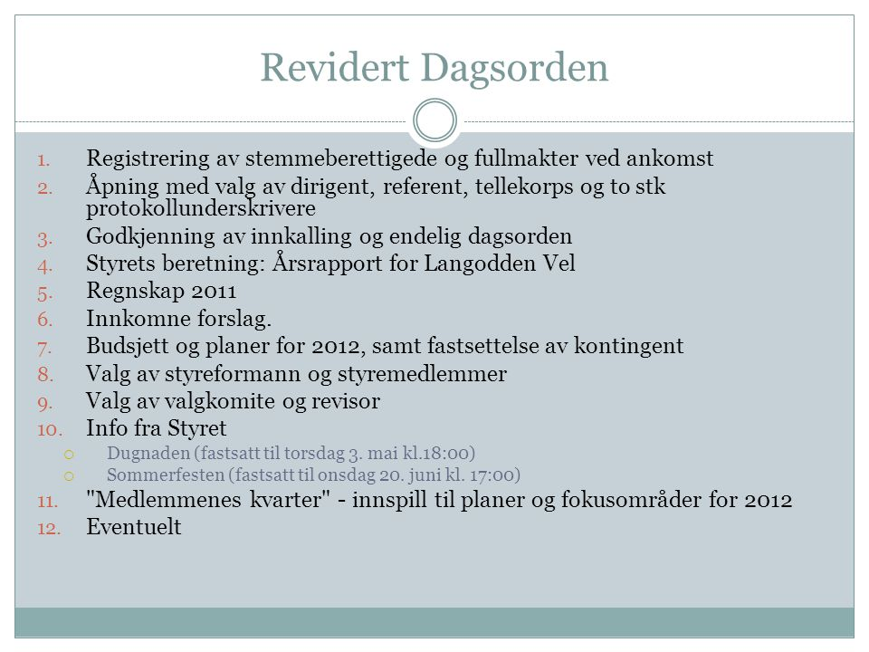6.a.1 Medlemskap i Norges Velforbund Styrets forslag til vedtektsendring: § 1.