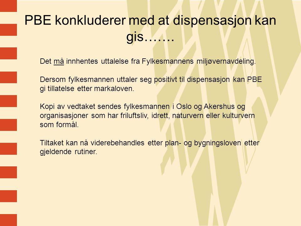 12 PBE konkluderer med at dispensasjon kan gis…….