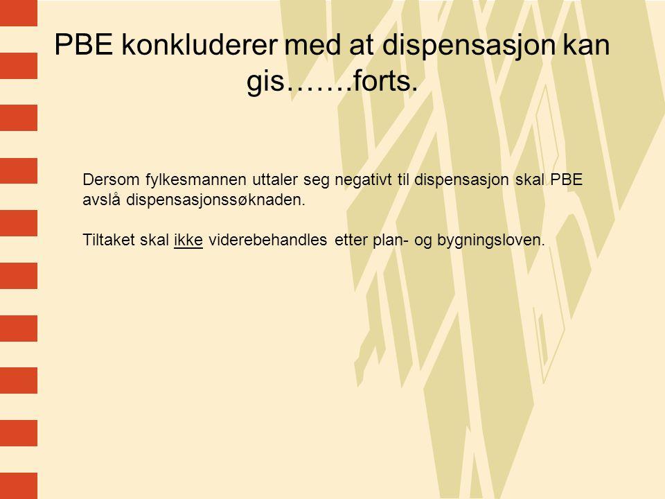 13 PBE konkluderer med at dispensasjon kan gis…….forts.