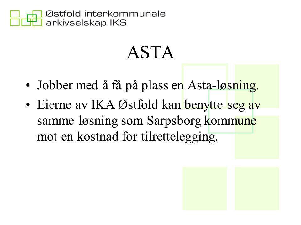 ASTA Jobber med å få på plass en Asta-løsning.
