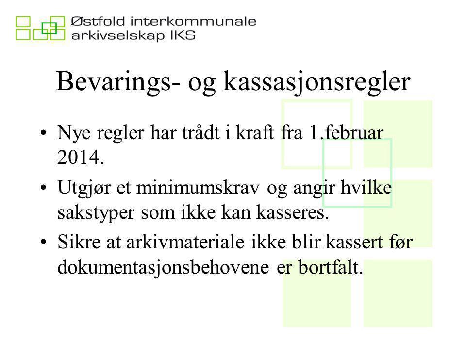 Virkeområde Gjelder for kommuner og fylkeskommuner Forskriften gjelder for det som er konkret beskrevet Gjelder for arkivmateriale som er skapt etter 1950