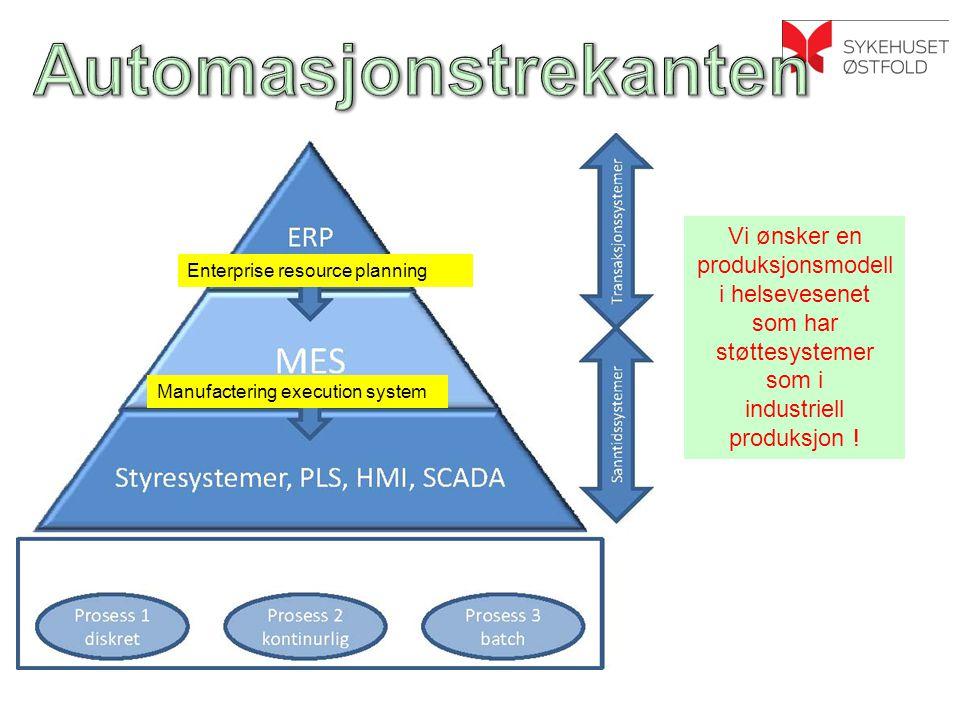 Vi ønsker en produksjonsmodell i helsevesenet som har støttesystemer som i industriell produksjon .