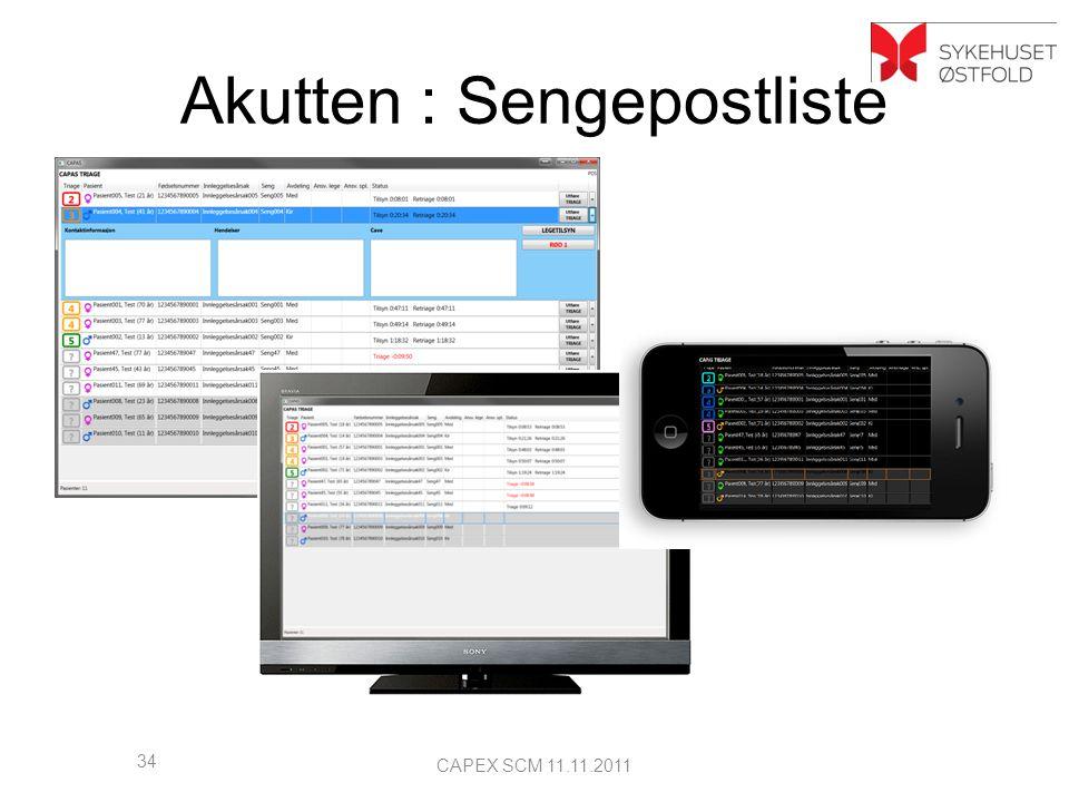 Sengepostliste Akutten : Sengepostliste 34 CAPEX SCM 11.11.2011