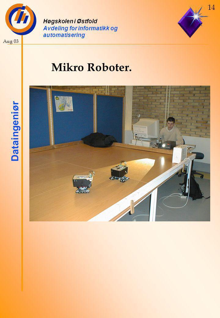 Høgskolen i Østfold Avdeling for informatikk og automatisering Dataingeniør 14 Aug 03 Mikro Roboter.