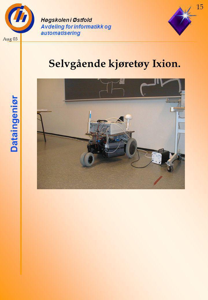 Høgskolen i Østfold Avdeling for informatikk og automatisering Dataingeniør 15 Aug 03 Selvgående kjøretøy Ixion.