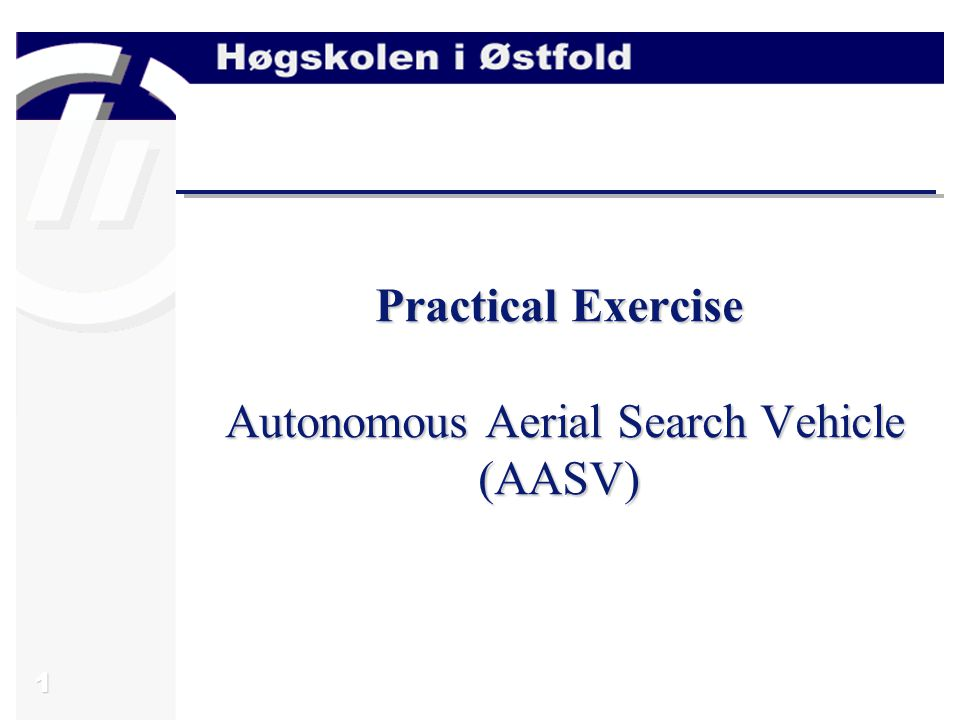 1 Practical Exercise Autonomous Aerial Search Vehicle (AASV)