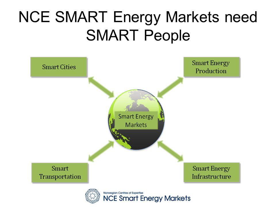 NCE SMART Women - Motivasjon Økt markedsorientering –Kvinner representerer 50 % av bedriftenes marked om vi definerer dette til sluttbrukere av energi, men er i svært liten grad er med på å utvikle løsningene som markedet skal benytte eller etterspør.
