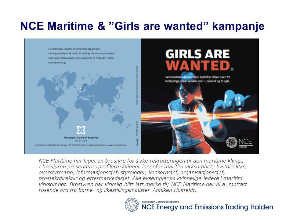 NCE Maritime & Girls are wanted kampanje NCE Maritime har laget en brosjyre for å ø ke rekrutteringen til den maritime klynga.