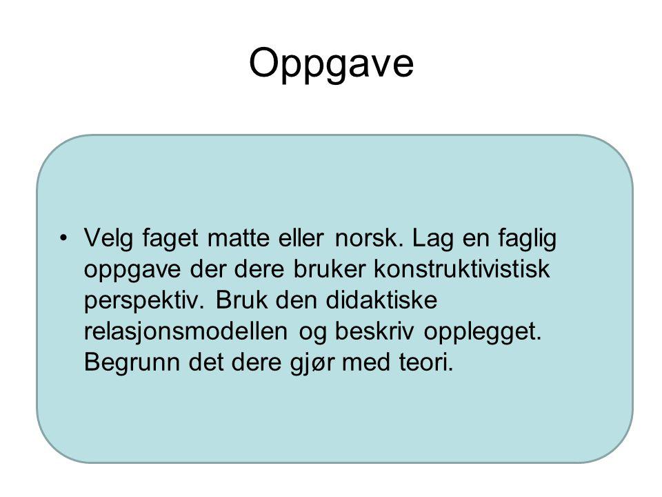 Nøkkelord kognitivt konstruktivistisk perspektiv Skjema Adaptasjon Assimilasjon Akkomodasjon Logisk-matematisk læring Figurativ kunnskap Hva er kunnsk