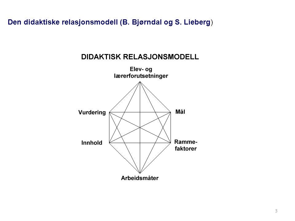 Didaktiske tradisjoner og modeller Mål-middel-teorier er ofte rettlinjet Mål stoffutvalg metoder resultat-måling Didaktiske relasjonsteorier har flere