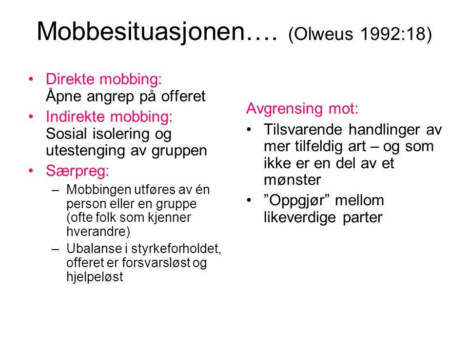Mobbesituasjonen….