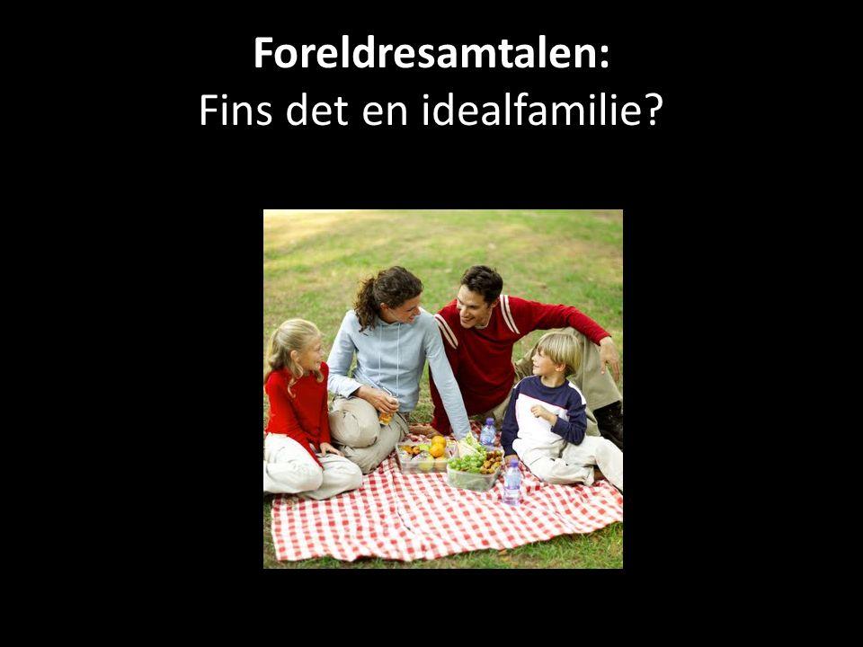 Foreldresamtalen: Fins det en idealfamilie?