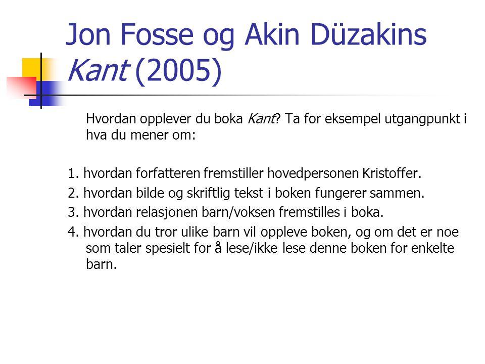 Jon Fosse og Akin Düzakins Kant (2005) Hvordan opplever du boka Kant.