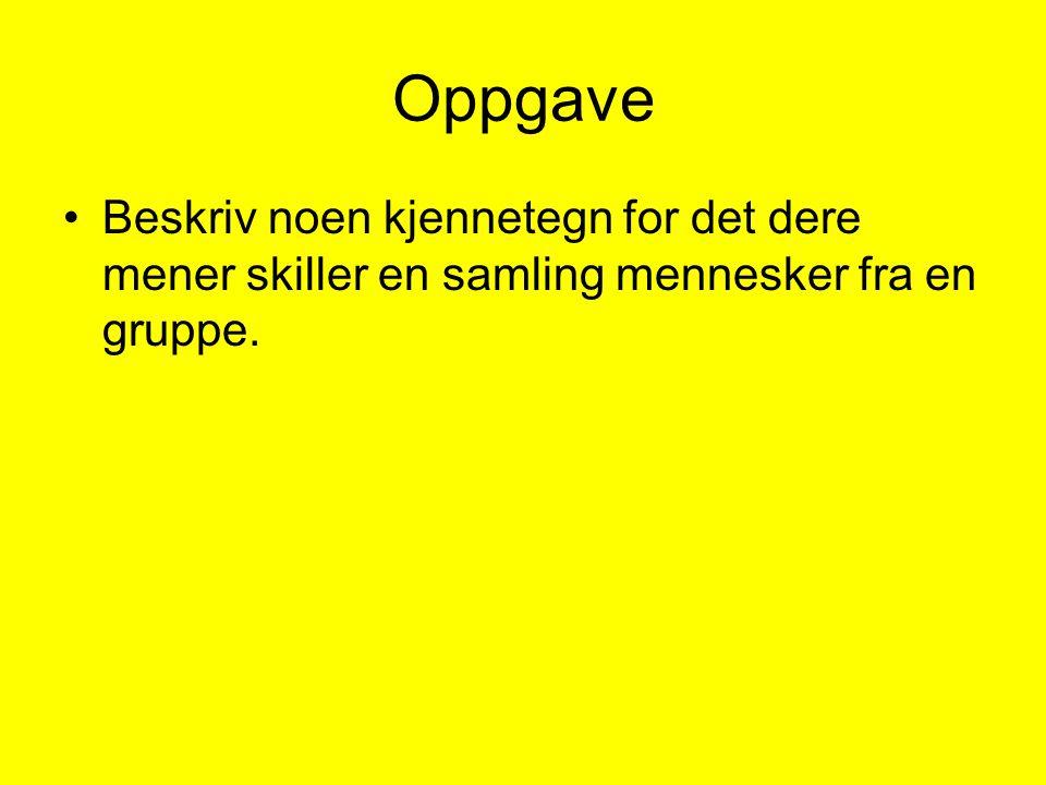Oppgave (til onsdag 6. september): Les kompendiet (Sjøvold, 2006)