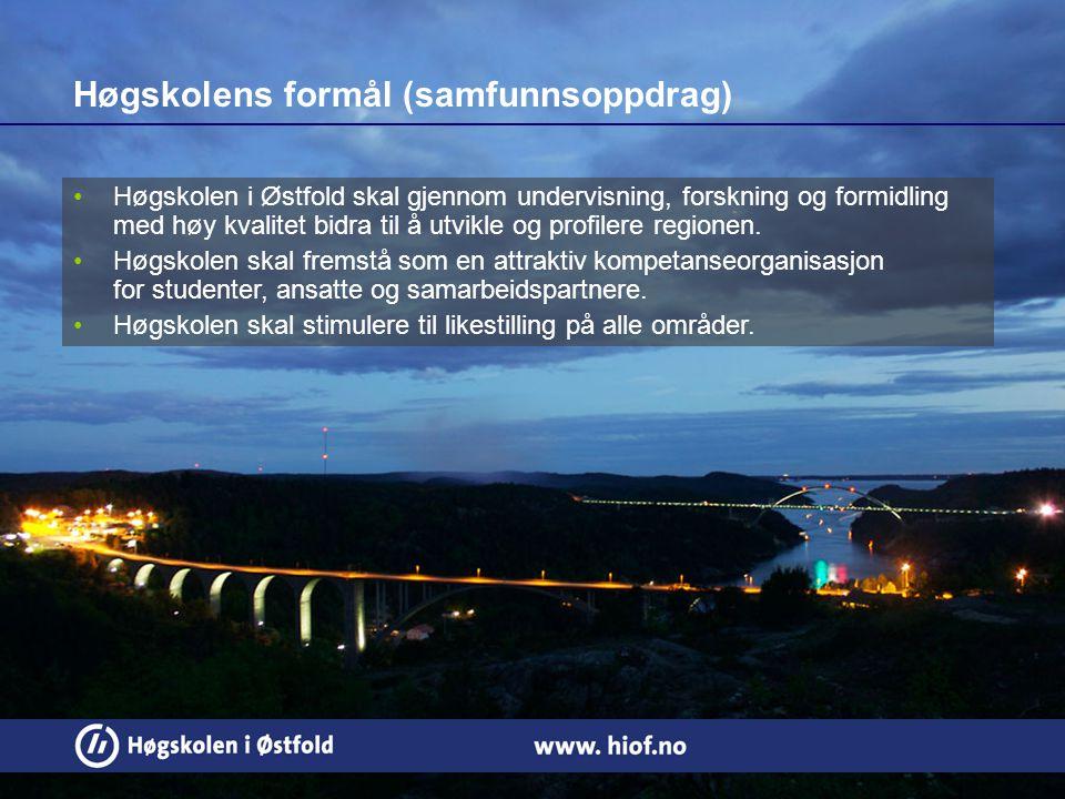 4 Høgskolen i Østfold skal gjennom undervisning, forskning og formidling med høy kvalitet bidra til å utvikle og profilere regionen.