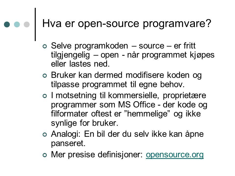 Hvorfor open-source.
