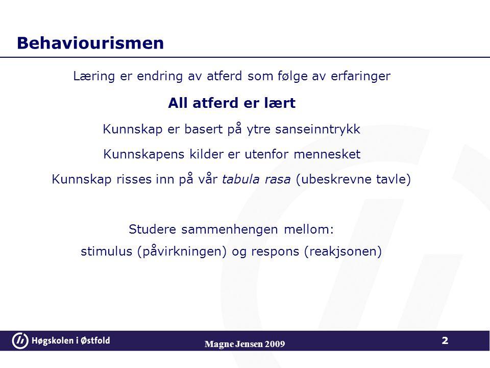Magne Jensen 2009 43 Formelt-operasjonelle stadiet (fra ca.