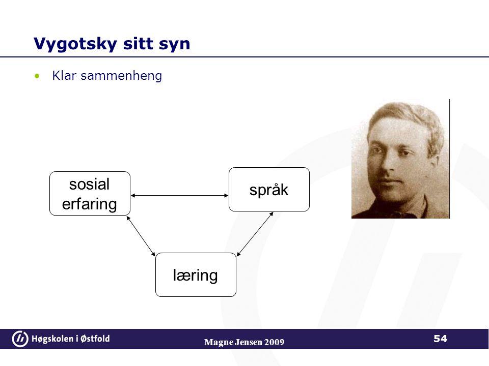 Magne Jensen 2009 Vygotsky sitt syn Klar sammenheng sosial erfaring språk læring 54