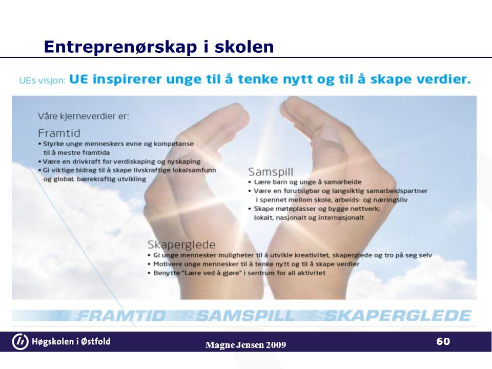 Entreprenørskap i skolen Magne Jensen 2009 60