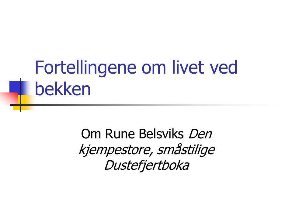Fortellingene om livet ved bekken Om Rune Belsviks Den kjempestore, småstilige Dustefjertboka