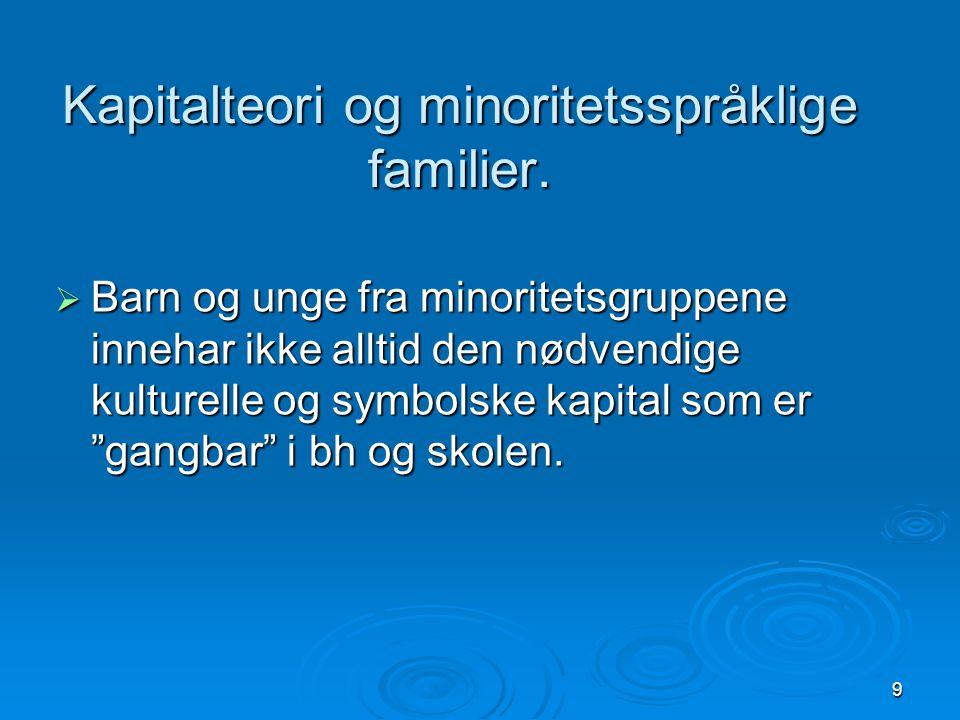  Slik ulikhet gjør at vi også kan snakke om ulike språkkoder eller ulik kulturell kapital i samfunnet. Mona Nordgren, HiØ-20098