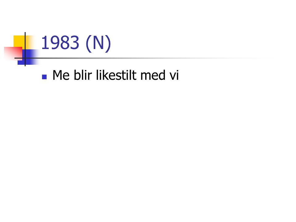 1983 (N) Me blir likestilt med vi