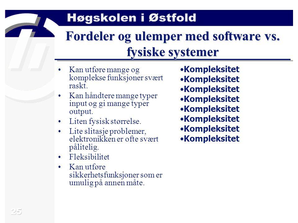 25 Fordeler og ulemper med software vs.