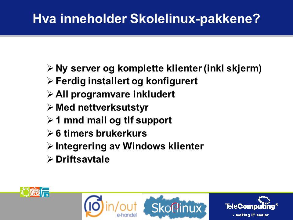 Hva inneholder Skolelinux-pakkene.