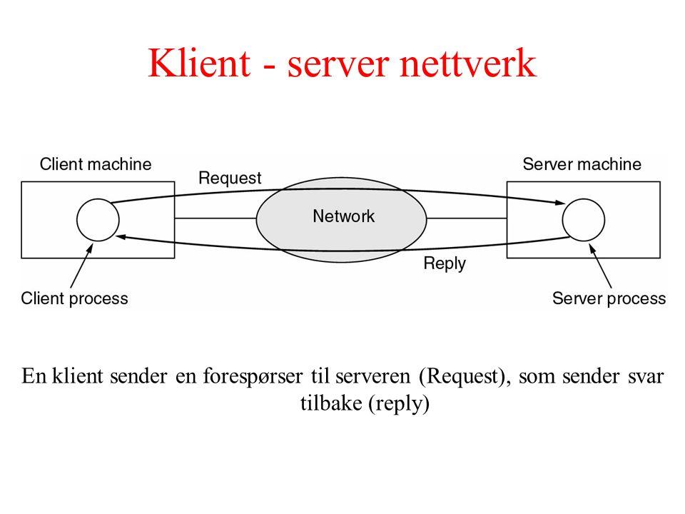 Peer-to-peer nettverk I et peer-to-peer system er det ingen faste klienter og servere.