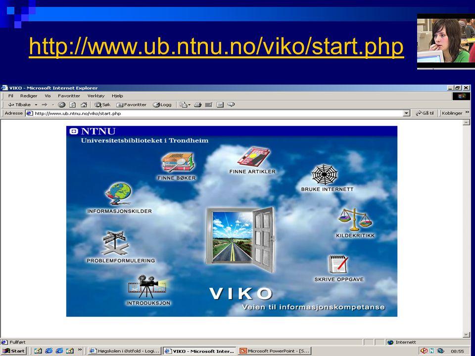 http://www.ub.ntnu.no/viko/start.php