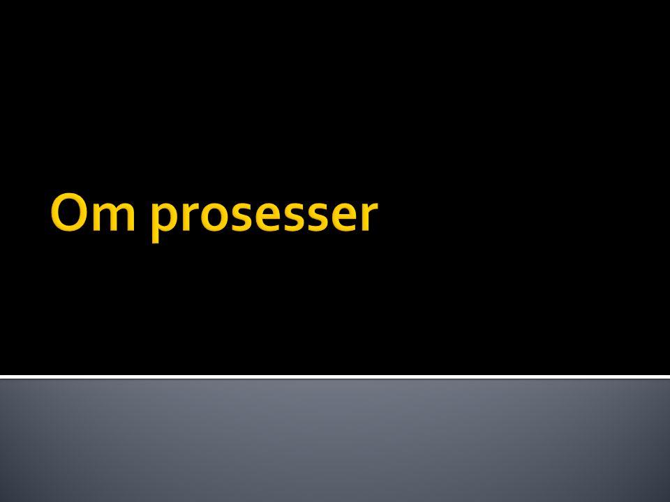  En prosess kan ha flere tråder. Trådene til en prosess er linket til prosessen som en liste.